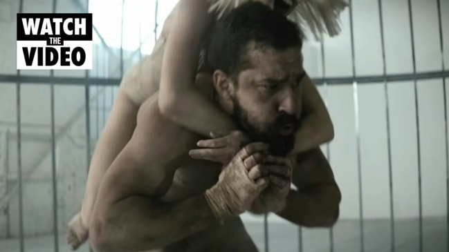 Shia LaBeouf and Maddie Ziegler in Sia's 'Elastic Heart' music video