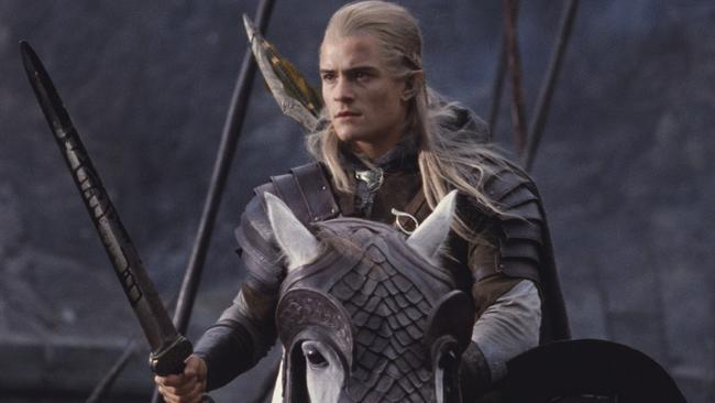 Orlando Bloom as Legolas in The Lord of the Rings: The Two Towers.