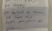 Family finds touching handwritten note from Kmart