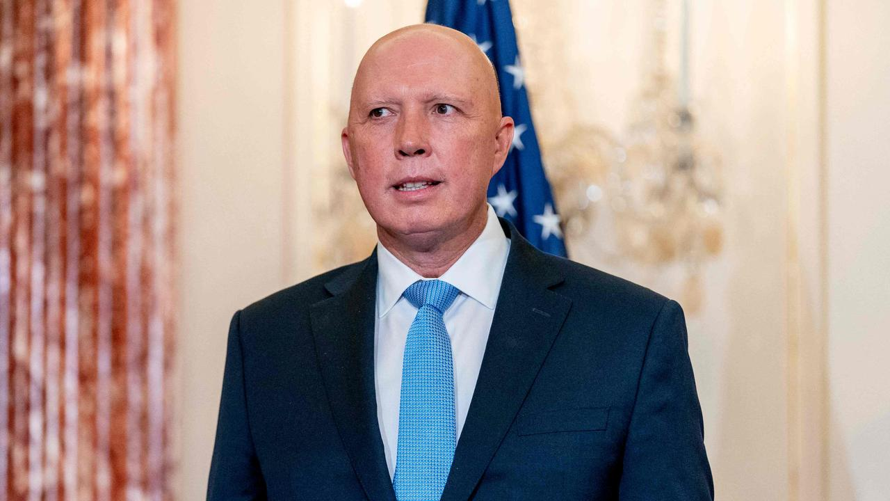 """Australian Defence Minister Peter Dutton has blasted """"immature"""" China. Picture: Andrew Harnik/Pool/AFP"""