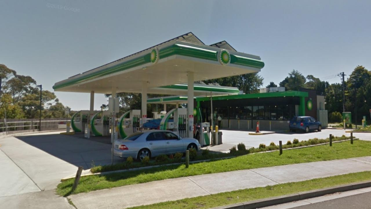 Patrick Kiernan allegedly robbed the BP in Katoomba while armed with a knife. Picture: Google Maps