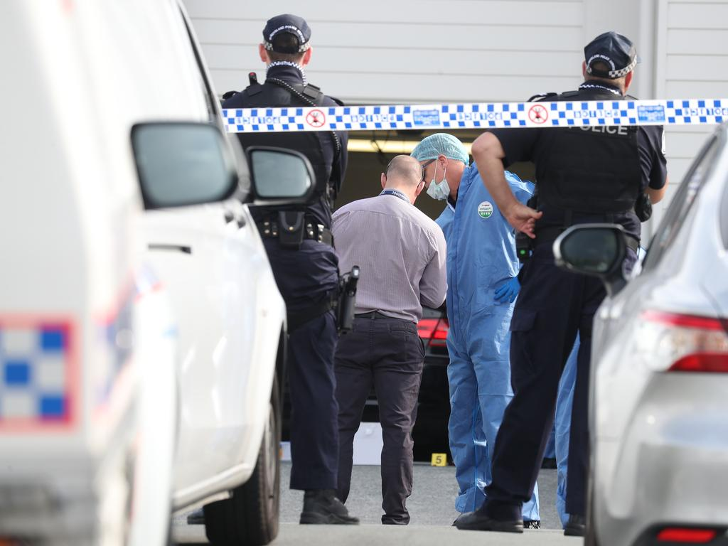 Police were called to the Cox St address in Pimpama shortly after midnight on Monday, where they found Bowden's body in his parked car. Picture: Annette Dew
