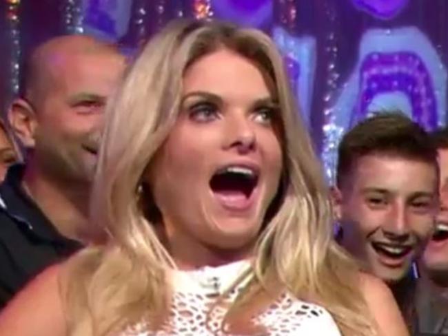 Erin Molan reacts to Wally Lewis's distasteful joke.