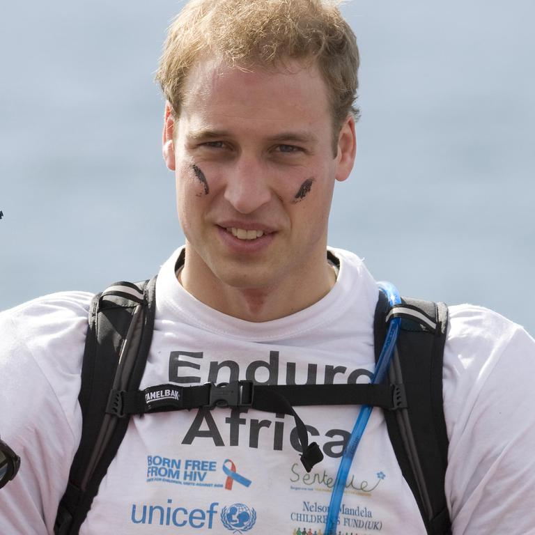 Prince William during his Danger Man phase in 2008. Picture: Pool/Anwar Hussein Collection/WireImage.