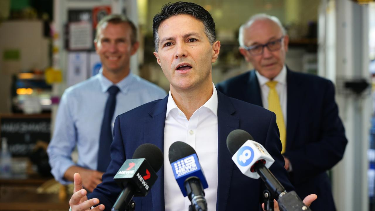 Customer Service Minister Victor Dominello pictured at the launch of a 'dine and discover' trial in Sydney. Picture: NCA NewsWire/Gaye Gerard