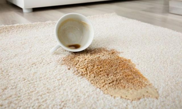 How to clean coffee stains from clothing and carpet