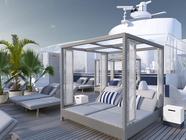 4. SET SAIL ON A STATE-OF-THE-ART SHIP The second ship to launch in Celebrity Cruises' Edge series, Celebrity Apex is filled with innovative design features. Take, for instance, the two-storey Edge Villas, each with outdoor plunge pool.