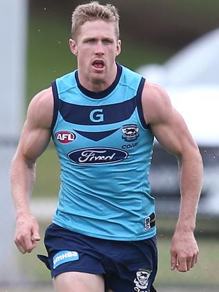 Scott Selwood at Geelong training. Picture: Glenn Ferguson