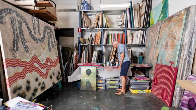 Ghostship Studio with artist Michael Eather will be part of Brisbane Art and Design. Picture: Dylan Evans