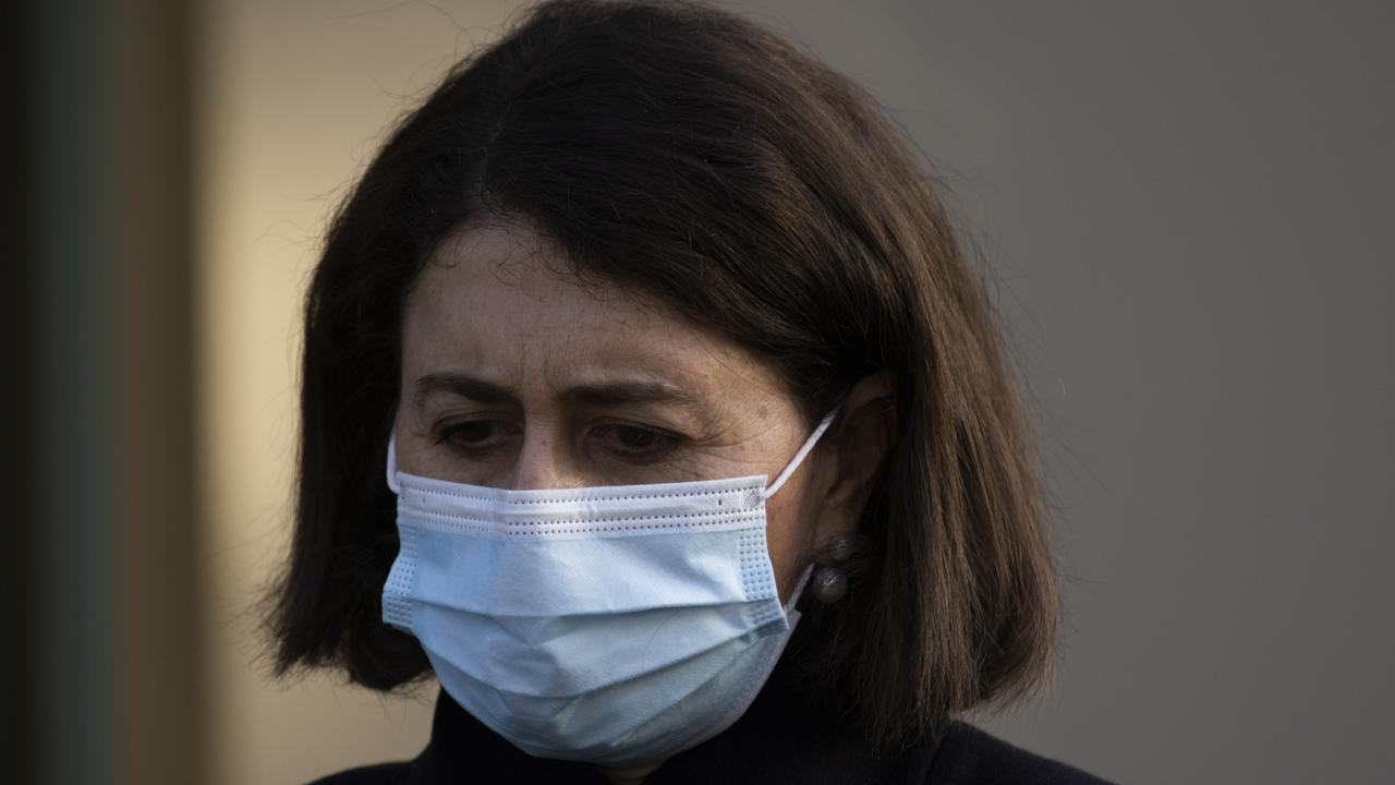 NSW Premier Gladys Berejiklian has been forced to extend the lockdown as the outbreak continues to grow. Picture: Jenny Evans/Getty Images