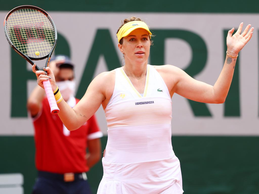 Pavlyuchenkova is heading towards the business end of the tournament. (Photo by Julian Finney/Getty Images)
