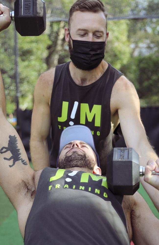 Jimmy Moran said most of his clients were willing to return to the gym. Picture: Alex Newman