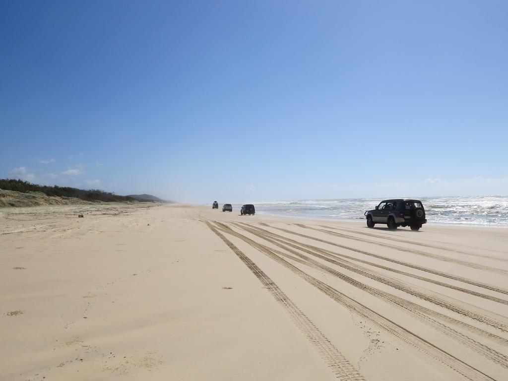 The vehicle was travelling along 75 Mile Beach when it rolled. Picture: Kristy Muir