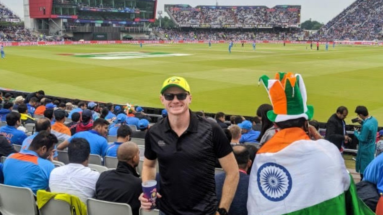 Jamie Spragg at the 2019 ICC Cricket World Cup in England.