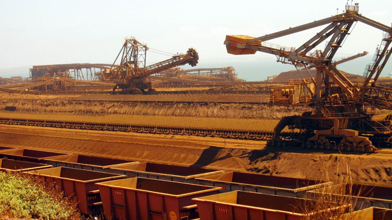 Iron ore prices climbed six per cent in the past week. Picture: Amy Coopes/AFP