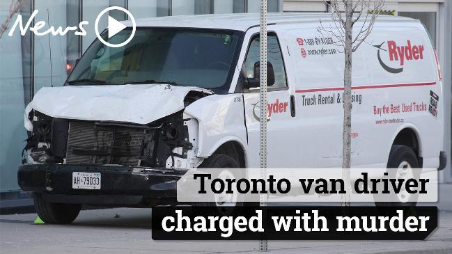 Toronto van driver charged with murder