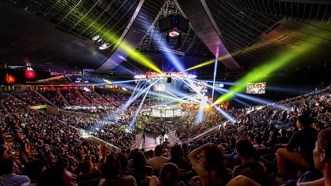 A packed Singapore Indoor Stadium for One Championship's Immortal Pursuit.