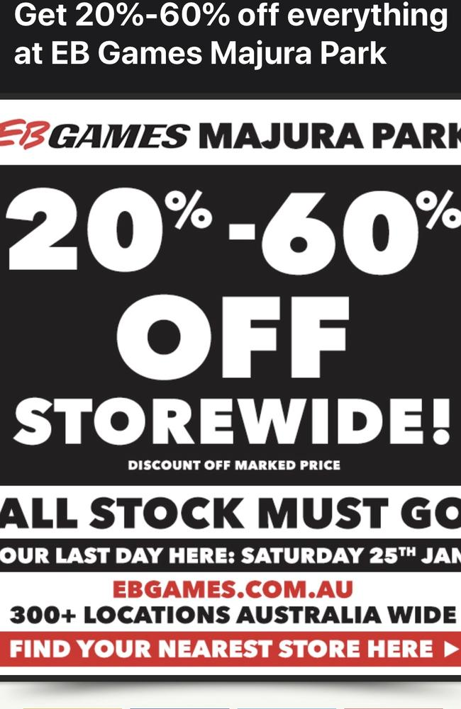 EB Games appears to be in the midst of a crisis with at least 17 stores set to shut down for good.