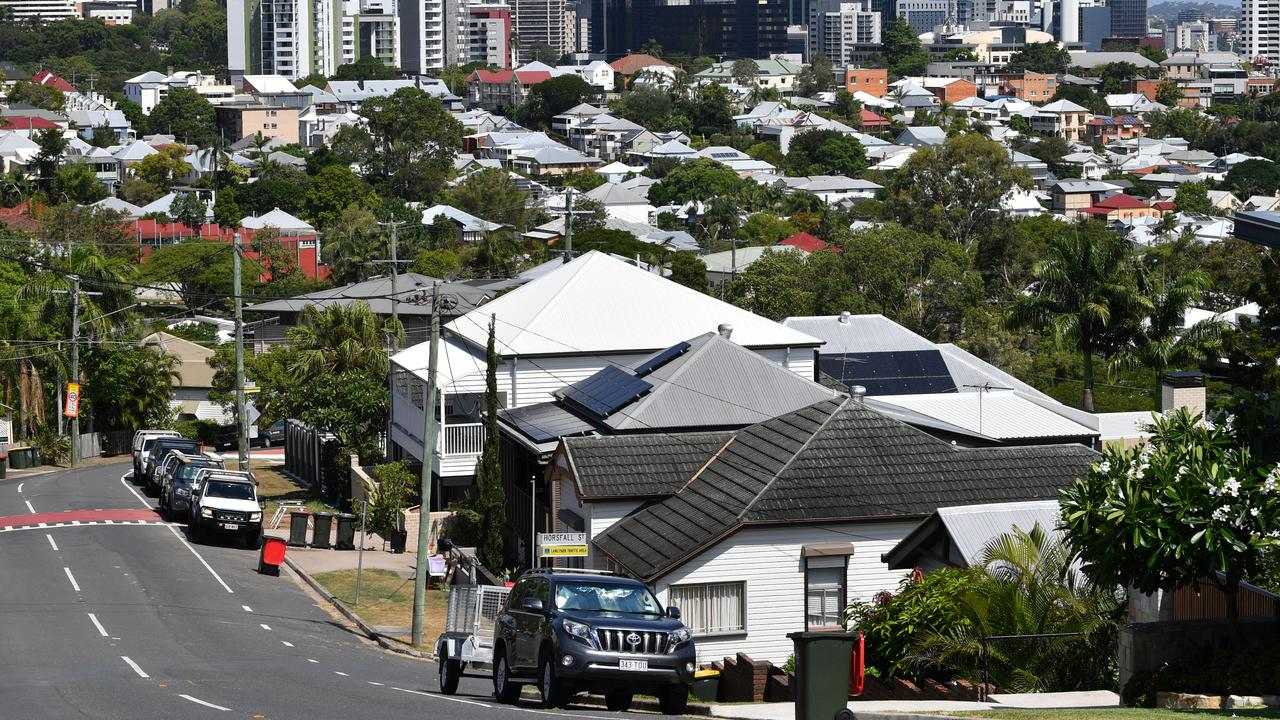 The suburbs of Paddington and Petrie Terrace. In the year to December 2018, the median house price in the Brisbane local government area rose to $675,000. REIQ. Image: AAP/Darren England.