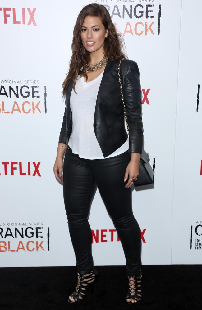 Real woman ... Ashley Graham in New York last year. Picture: Splash