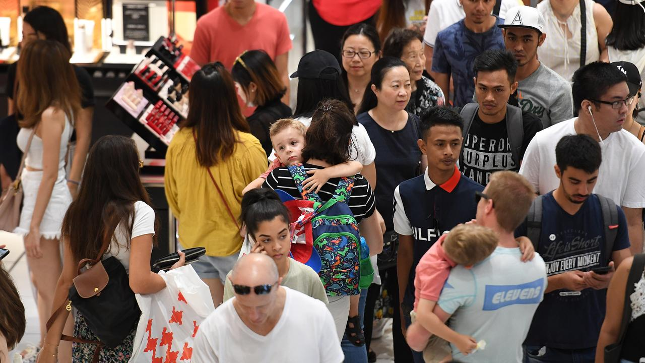 The NSW Government says the Christmas shopping crowds are slowing the service down. Picture: Dylan Coker/AAP