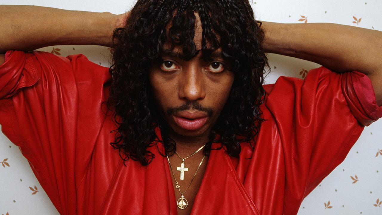 Rick James battled drug addiction until his death at 56 in 2004. Picture: Getty Images