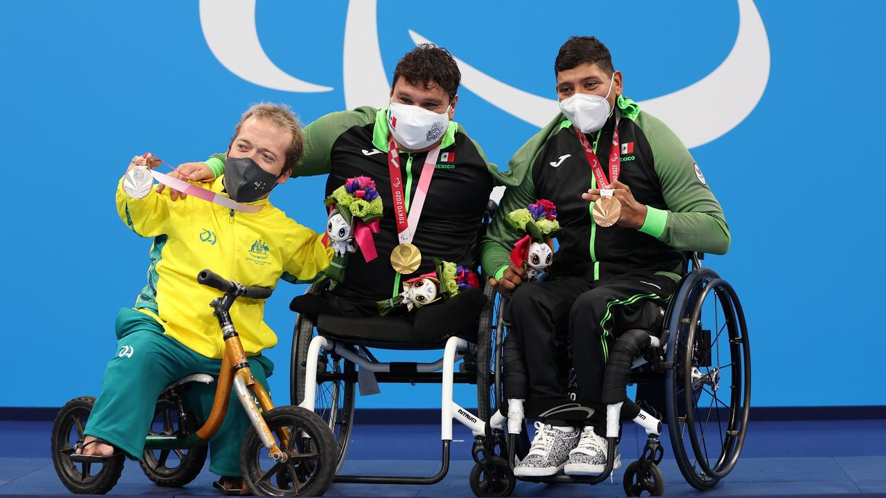 Fellow athletes love the affable Aussie. Picture: Getty Images