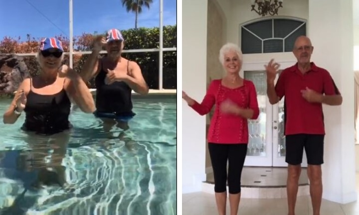 TikTok Nan and Pop go viral by proving they got the 'Moves Like Jagger'