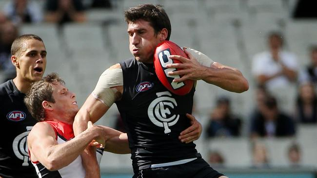 Carlton's Michael Jamison believes his shoulder injuries are behind him. Picture: Colleen Petch
