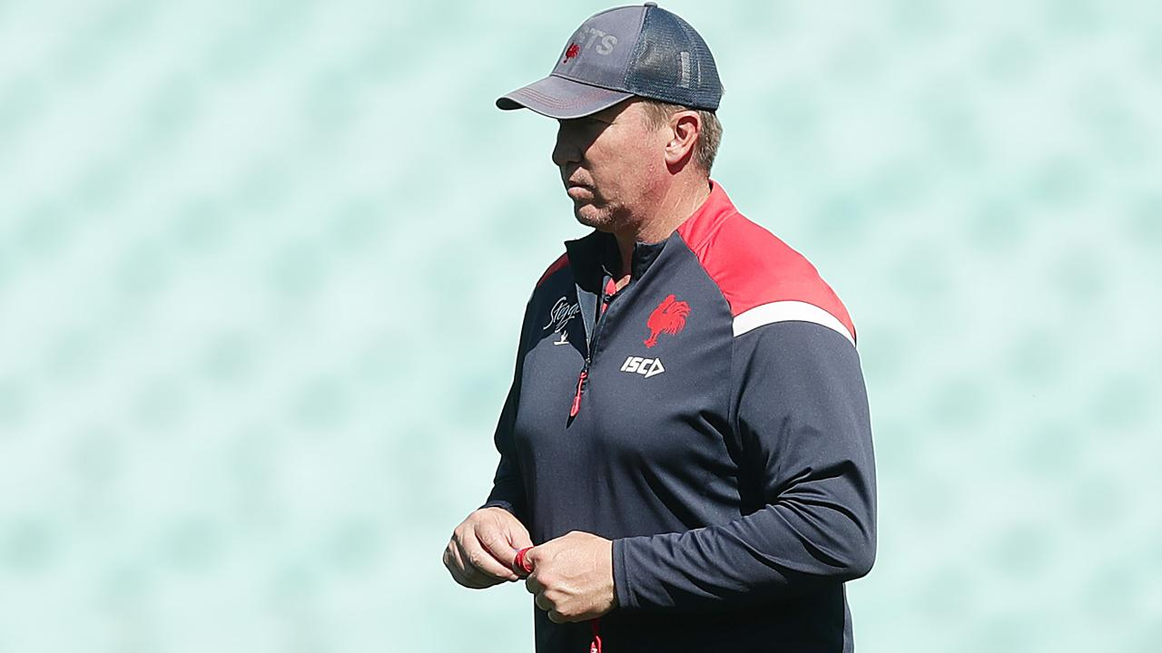 """Sydney Roosters coach Trent Robinson won't stop expressing his views on matters he deems unfair or incorrect despite copping a $10,000 fine from the NRL for labelling the bunker's process """"incompetent"""". Photo: Mark Metcalfe/Getty Images."""