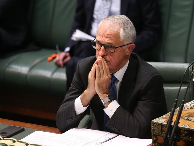 """Prime Minister Malcolm Turnbull has warned against """"dangerous"""" comments inciting hatred after Pauline Hanson yesterday urged Australians to pray for a Muslim ban. Picture Kym Smith"""