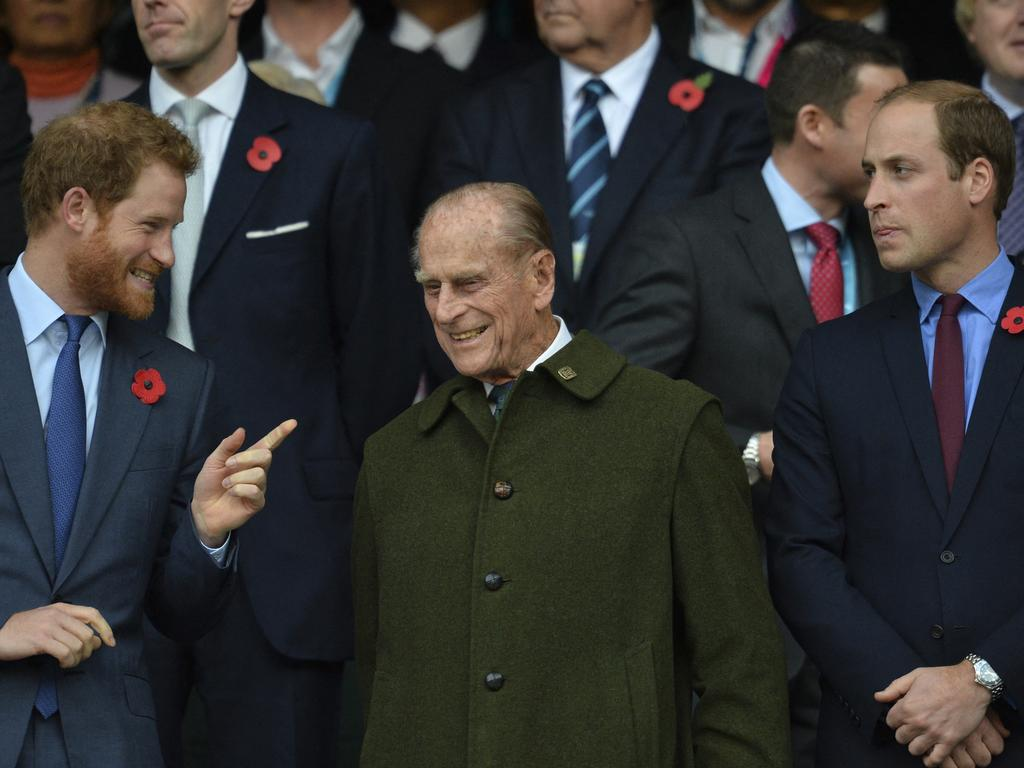 Pinrce Harry called Prince Philip a 'legend of banter'. Picture: Glyn Kirk / AFP
