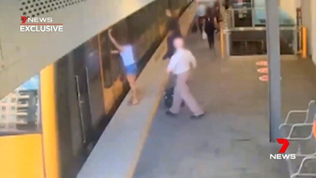 Woman lucky to be alive after being dragged by Sydney train (7 News)