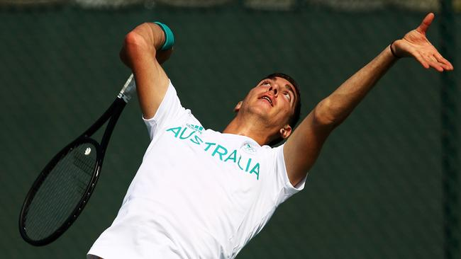 Kokkinakis missed nearly all of last season with a shoulder problem.