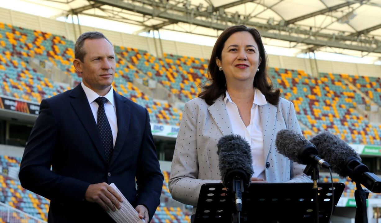 QLD Premier, AFL representatives 'gloating' over grand final should make Aussies angry