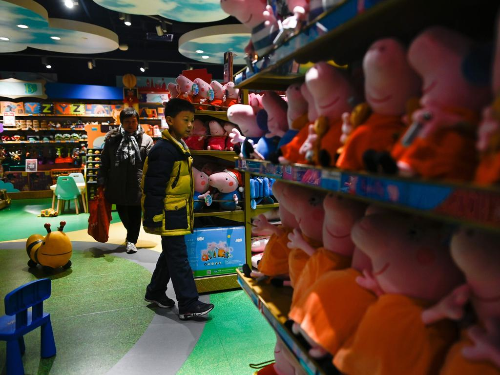 Roasted as a subversive symbol and chopped from a video streaming website in China, Peppa Pig's popularity has risen unabated. Picture: AFP