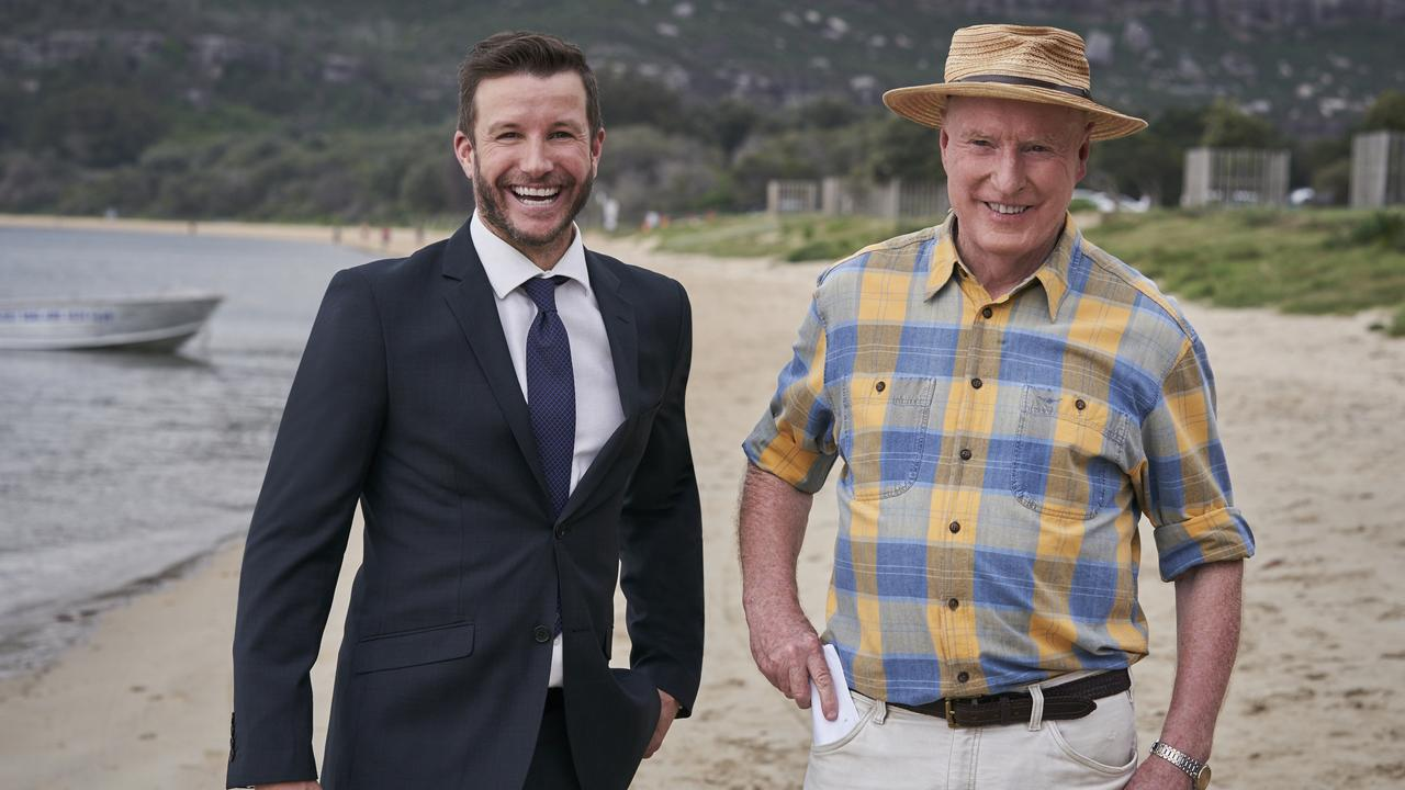 Luke Jacobz and Ray Meagher.