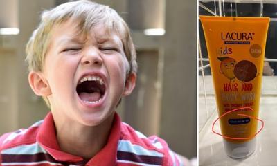 Mum tricks son into believing soap stops tantrums