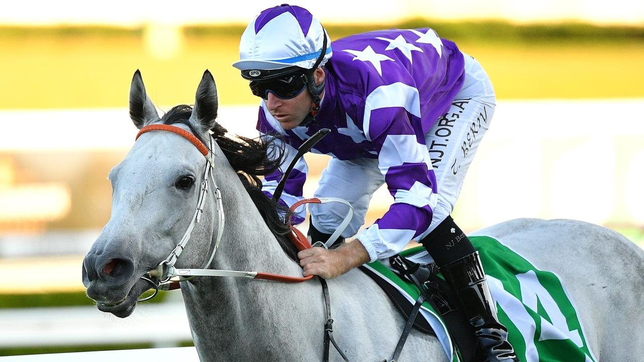 A hectic early speed could suit Greyworm in the Listed Carlyon Stakes at The Valley. Picture: AAP.
