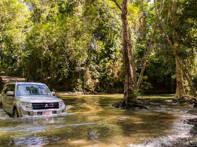 The Emmagen Creek crossing is part of the Bloomfield Track, just north of Cape Tribulation. Picture: TEQ