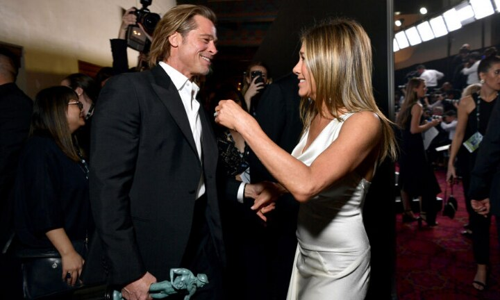 Brad and Jen's SAG moments have the internet going wild
