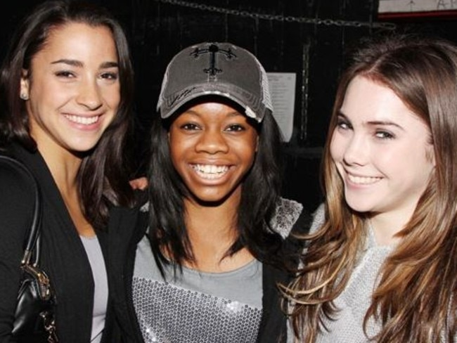 Aly Raisman, Gabby Douglas and McKayla Maroney were all victims of Larry Nassar's. Picture: Supplied