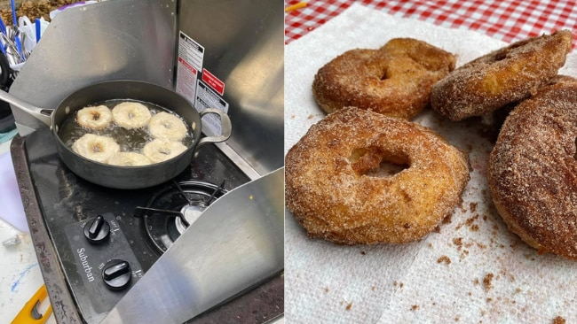 """3/14Camping dessert? DIY donuts Molly O: """"Camping donuts!"""" Picture: Camping Recipes and Cookouts / Molly O"""