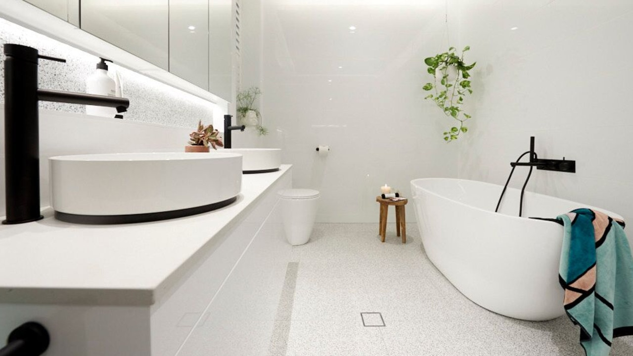 Looks like terrazzo floors are back in trend. Source: The Block