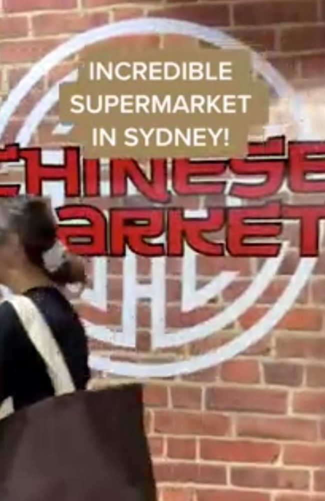 A Sydney foodie shared a now viral TikTik video giving her followers a tour of the 'incredible' supermarket which also has a hidden Asian market inside. Picture: TikTok/euwth