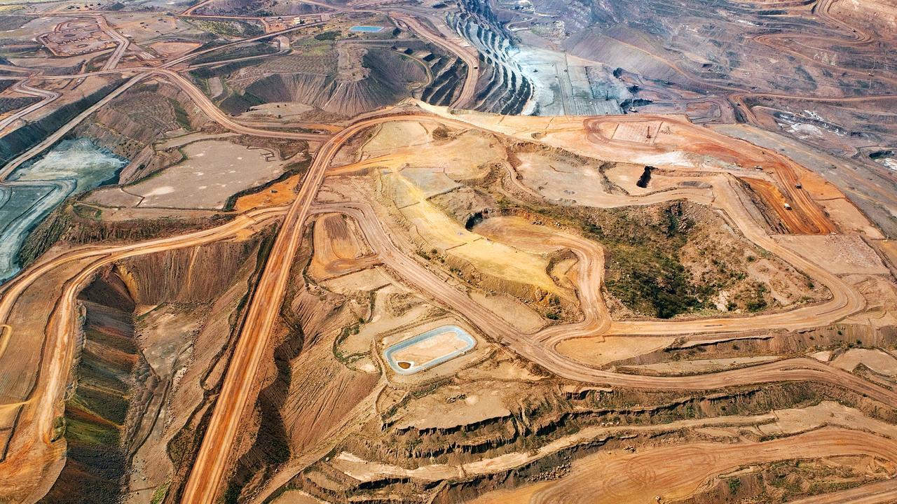 A BHP Billiton iron ore mine in Australia.