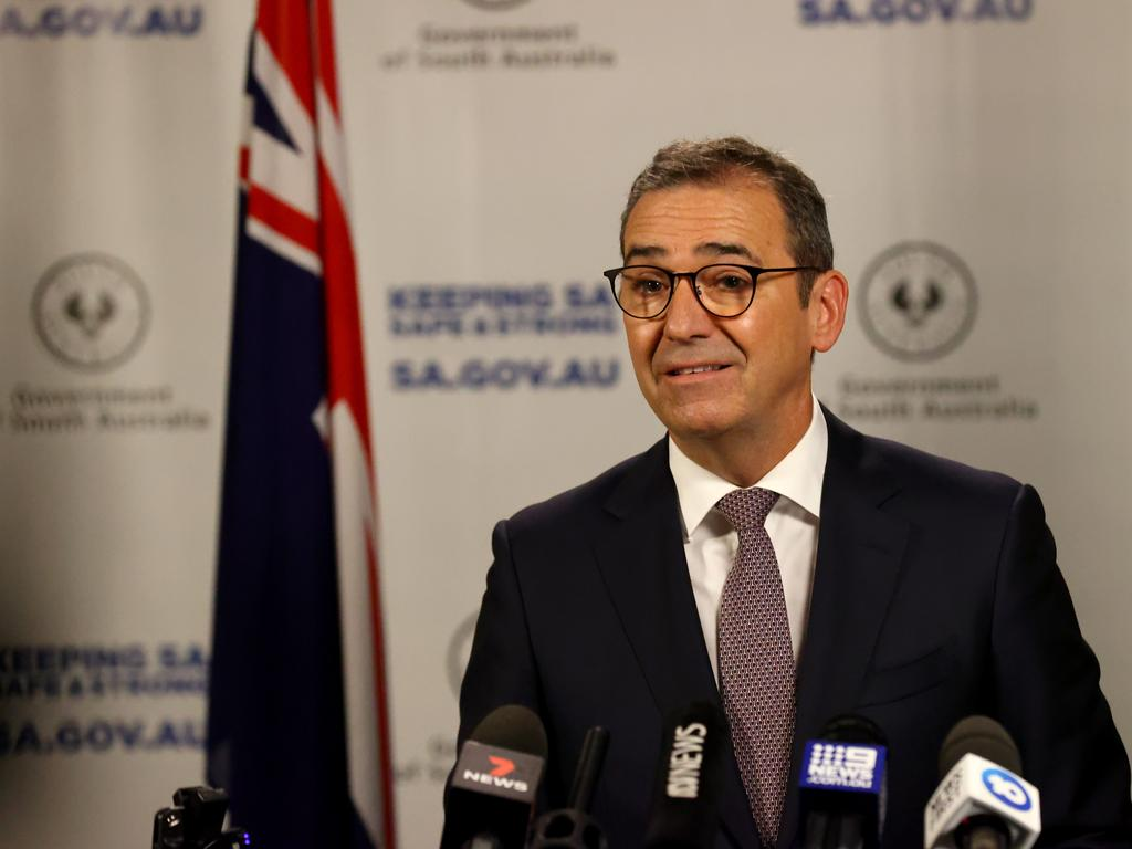 South Australian Premier Steven Marshall said letting the Delta variant get out of control would be catastrophic. Picture: NCA NewsWire/Kelly Barnes