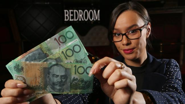 Bartender Jesse Tawhi, who noticed a patron was using fake $100 notes to buy drinks. Picture: Glenn Hampson