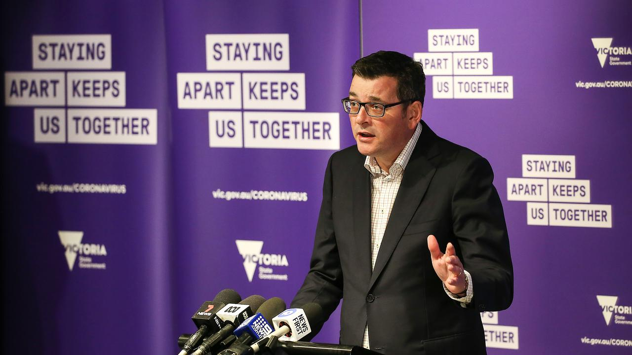 """""""Insecure work is no good,"""" Dan Andrews said today, when asked about why the spike was continuing. Picture: NCA NewsWire / Ian Currie"""