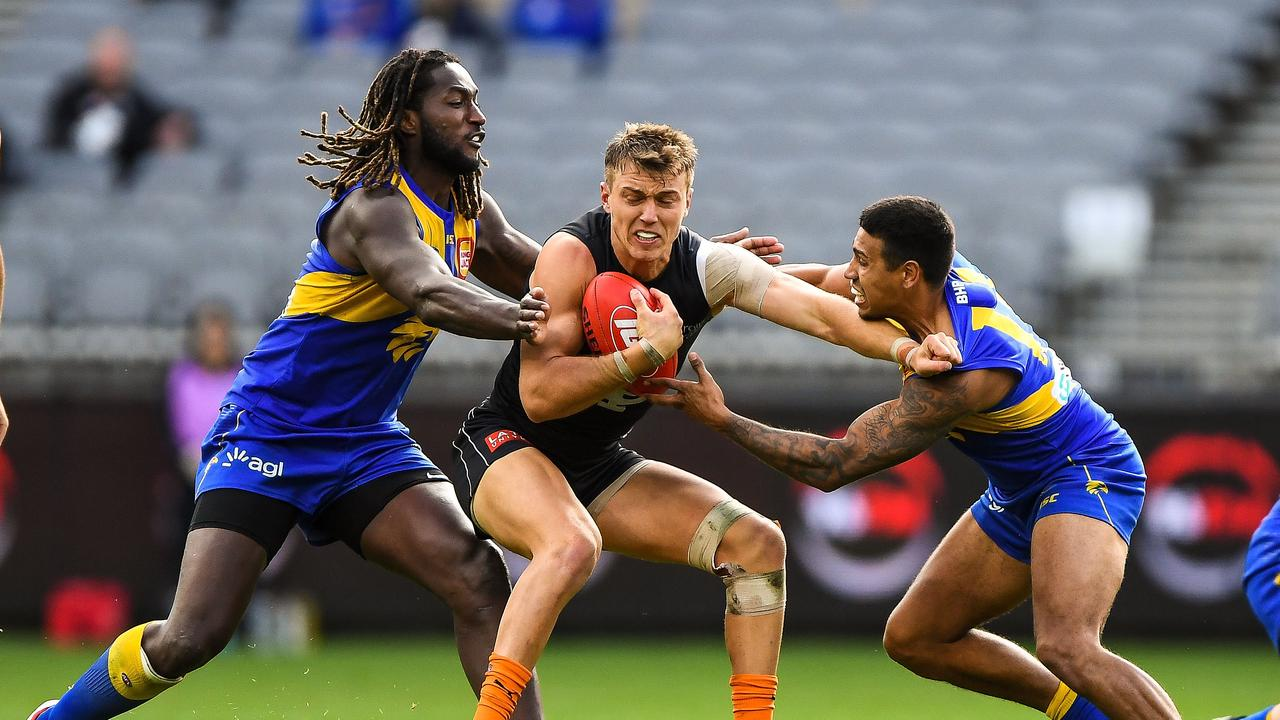 Patrick Cripps' Blues are set to 'host' West Coast at the SCG on Round 12. Picture: Daniel Carson